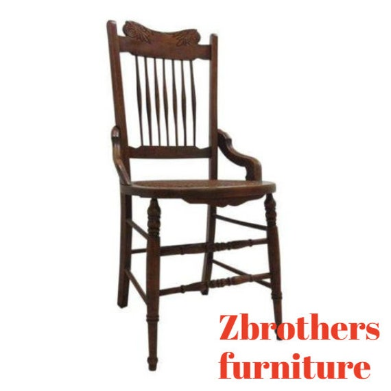 Antique Victorian Hip Rest Dining Room Desk Side Chair