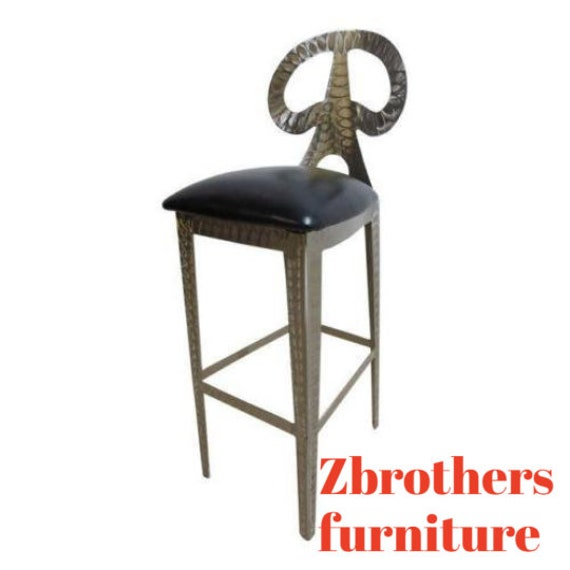 Steel Industrial Eiffel Tower Bar Counter Chair Stool