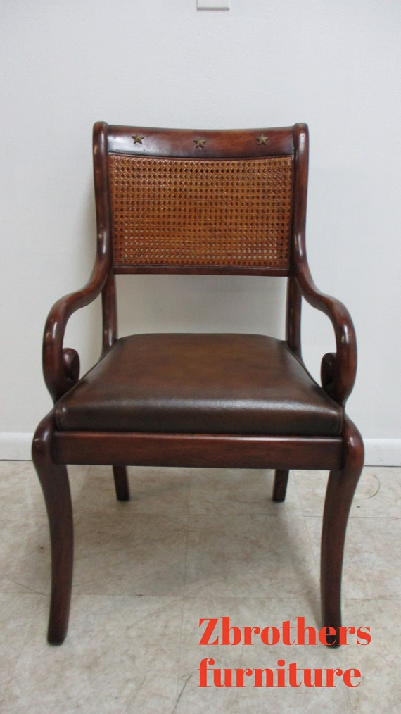 Theodore Alexander Double Cane French Regency Arm Chair B