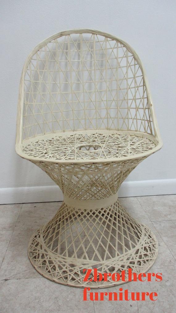 Russell Woodard Spun Fiberglass Patio Side Chair Vintage Mid Century C