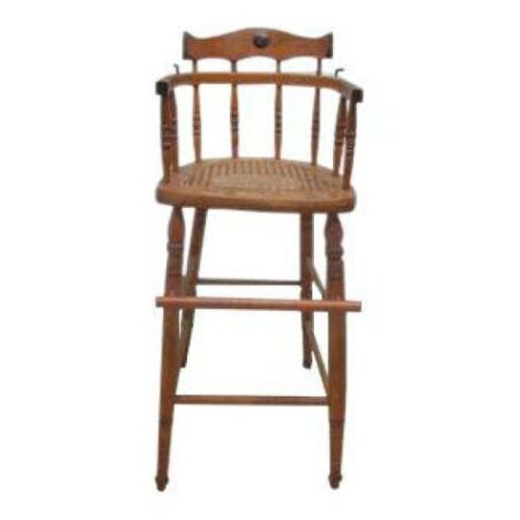 image 0 - Antique Tiger Oak Bent Wood High Chair Stool Chair Childs Doll Etsy