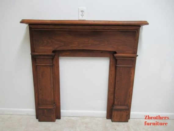 Antique Primitive Fireplace Mantel