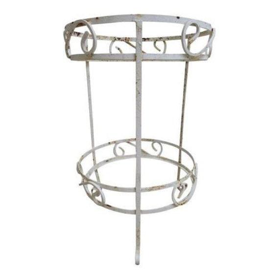 Vintage Mid Century Outdoor Patio Porch 2 Tier Lamp End Table A