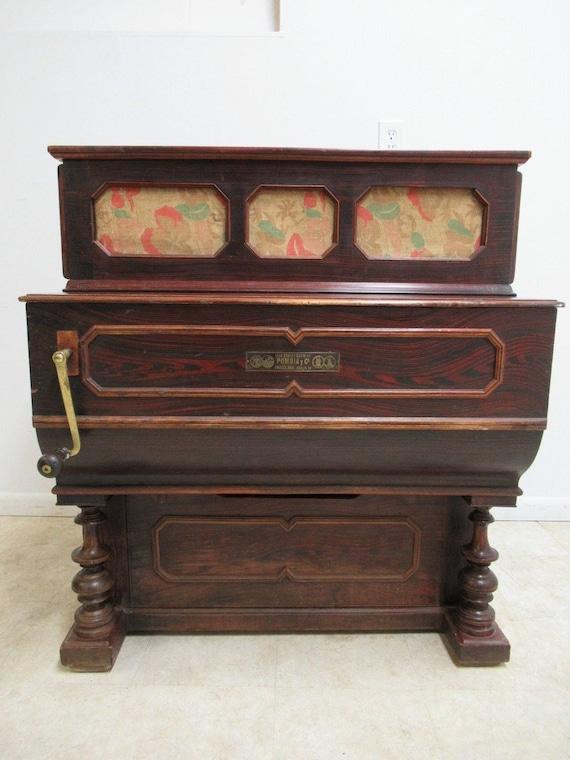 Antique Hand Crank Barrel Street Organ ANTONIO APRUZZESE MANUBRIO