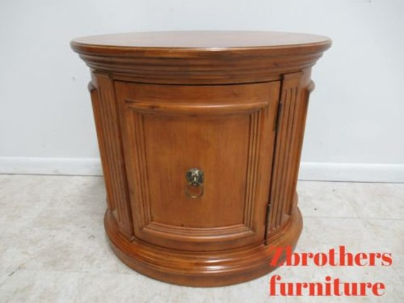 Ethan Allen Legacy Lamp End Drum Table Neo Classical French