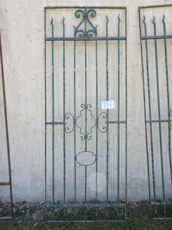 Antique Victorian Iron Gate Window Panel Fence Architectural Salvage #783