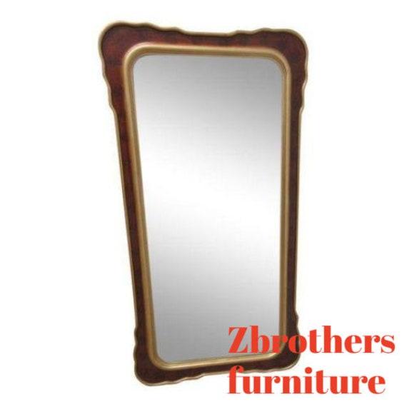Decorative Hollywood Regency Gold Hanging Dresser Wall Mirror A