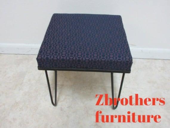 Vintage Mid Century Hairpin Leg Foot Stool Ottoman Seat Etsy