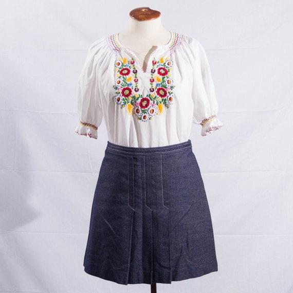 vintage '70s denim mini skirt