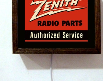 Zenith Radio Etsy. Zenith Radio Repair Shop Tubes Tv Parts Sales Service Advertising Retro Vintage Light Lighted Sign. Wiring. Zenith Radio Schematic 7h920 At Scoala.co
