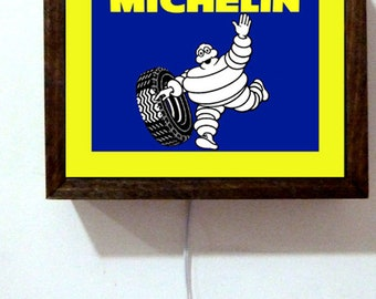 bed4c6c1ffc2 Michelin Man Tires Store Repair Service Auto Retro Vintage Light Lighted  Sign