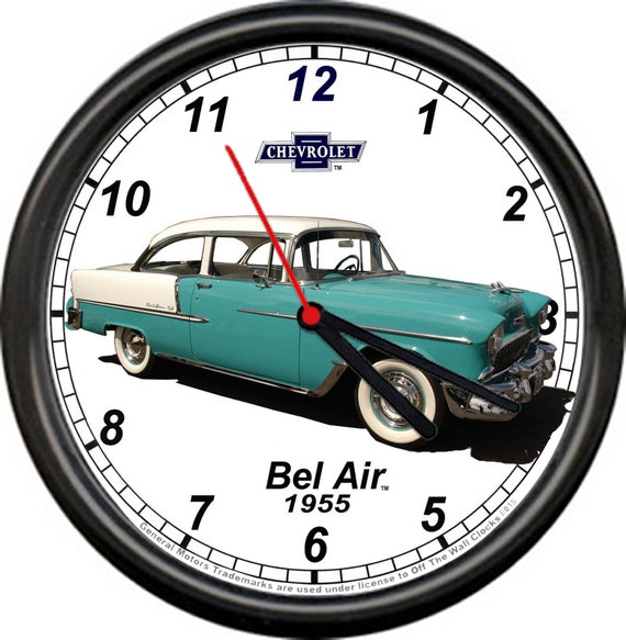 1955 Chevrolet Chevy Bel Air Belair Sedan 55 Green White Retro Etsy