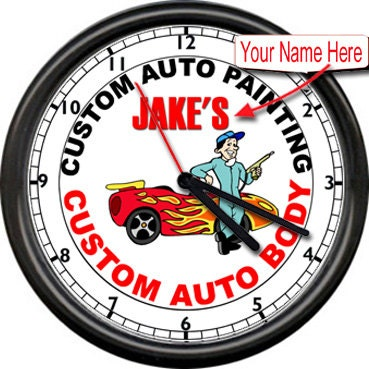 Personalized Custom Auto Painting Body Shop Paint Repair Sign Wall