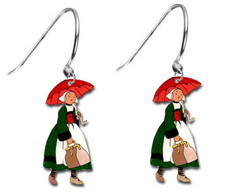 Beccasine Comic Heroine Retro 1905 Character Parasol Costume Charm