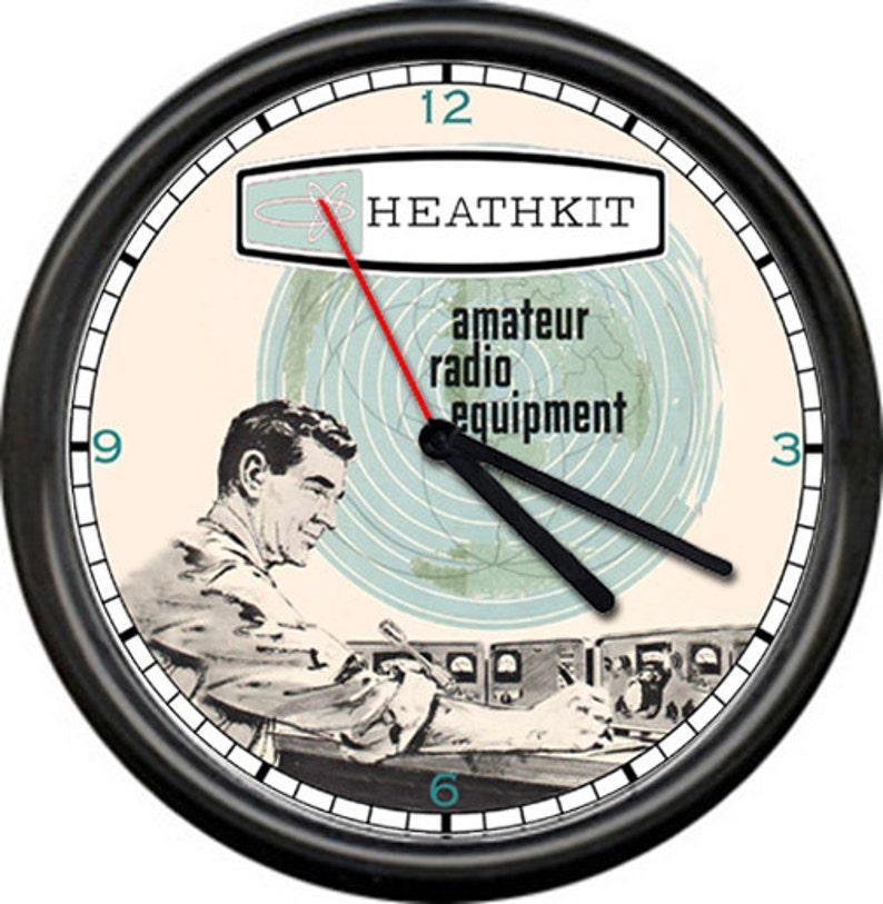 Heathkit Heath Kit Tube Radio Shortwave Amateur Equipment Sign Wall Clock