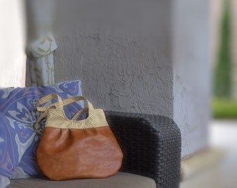 Neutral Leather Purse