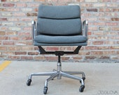 vintage management chair from the Eames Soft Pad line an extension of the Aluminum Group by Charles and Ray Eames