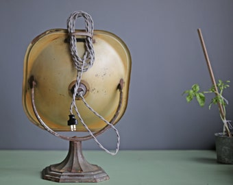 custom vintage copper heater by Lindemann & Hoverson repurposed into lamp