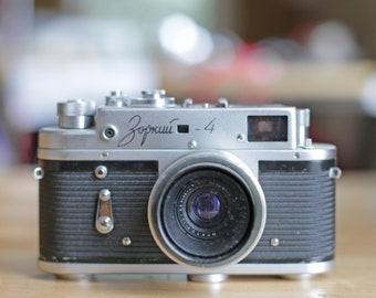 circa 1967 limited edition Soviet Authority 50th anniversary vintage soviet camera Zorki-4, with Jupiter-12 f2.8 35mm lens