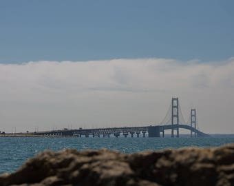 Photography Print. Michigan Photography. Mackinac Bridge. Architecture. Michigan Photography. USA Photography.