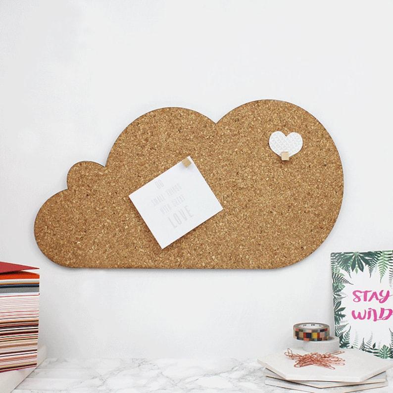 Fonkelnieuw Cloud Memo Board prikbord kurk kurk prikbord | Etsy DN-18