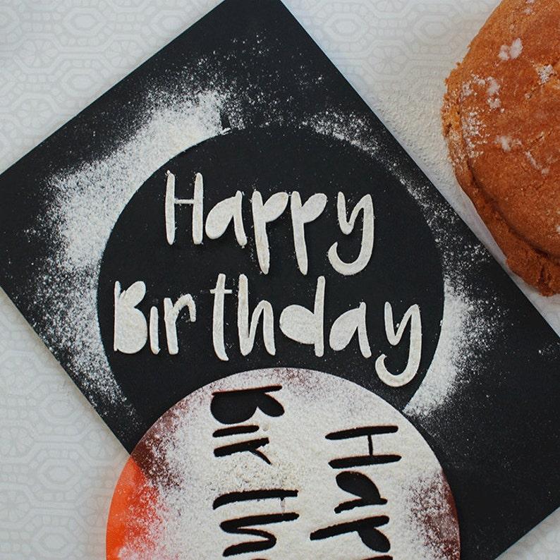 Happy Birthday Cake Stencil Decoration Baking Gift