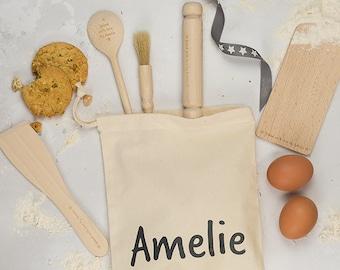 Personalised Baking Set - Kids Baking Set - Kids Gift - Baking Gifts - Engraved Utensils - Baking Kit- Personalised Gift - Baking Supply