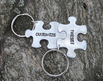 Personalized Puzzle Pieces Keychain  df7a4868eb