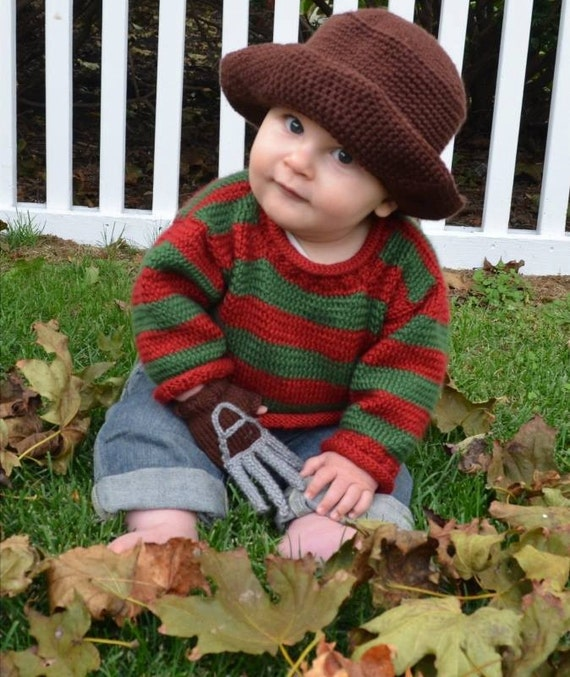 Freddy Krueger 0 3 Months Baby Outfit Etsy