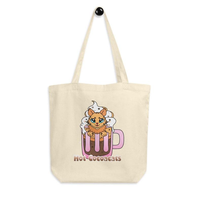 Organic Bag Eco Tote Bag Tate Bag Pumpkin Spice Bag Purrkin Spice Bag Tote