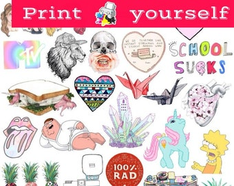 graphic relating to Tumblr Stickers Printable titled Fixed #13. Mockup printable Tumblr Stickers, Stickers, Established of