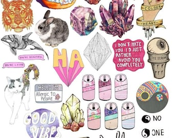 picture relating to Tumblr Stickers Printable named Fastened #39. Mockup printable Tumblr Stickers, Stickers, Established of