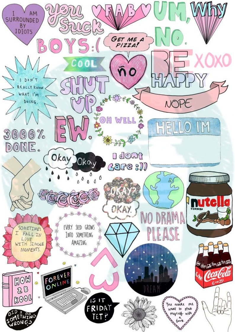 This is a photo of Old Fashioned Printable Stickers Tumblr