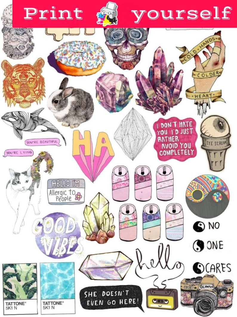 graphic regarding Tumblr Stickers Printable known as Fixed #39. Mockup printable Tumblr Stickers, Stickers, Preset of stickers. Decals. Instantaneous Obtain PDF and PNG Data files