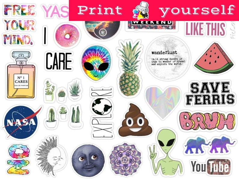 photograph relating to Tumblr Stickers Printable referred to as Fastened #125. Mockup printable Tumblr Stickers, Stickers, Preset of stickers. Decals. Prompt Down load PDF and PNG Report