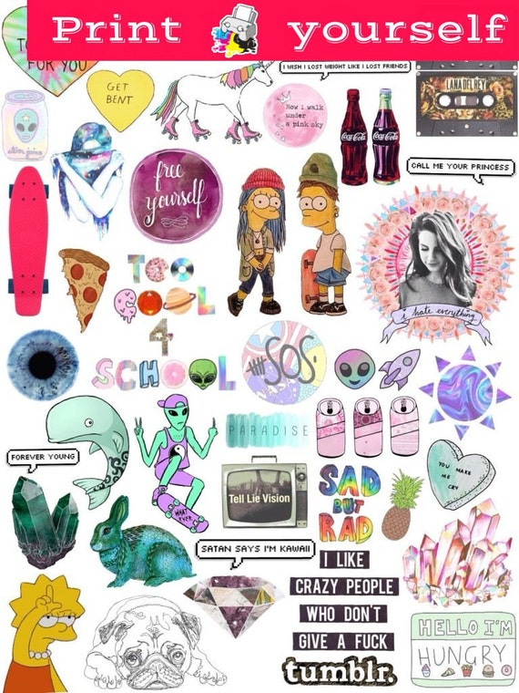 graphic regarding Tumblr Stickers Printable titled Fixed #10. Mockup printable Tumblr Stickers, Stickers, Established of stickers. Decals. Quick Down load PDF and PNG Data files