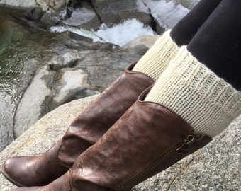 Knitting Pattern Boot Cuffs THE CONCORD Boot Socks
