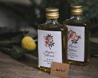 Cadeaux invités : Petite dosette d'huile d'olive ** bio ** - commande minimum 25