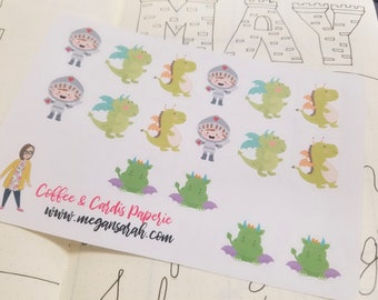 Knights and Dragons Planner Stickers