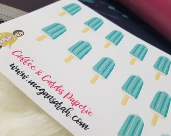Popsicle Treat Planner Stickers