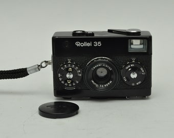 Rollei 35 Compact Rangefinder Camera in Black with Case