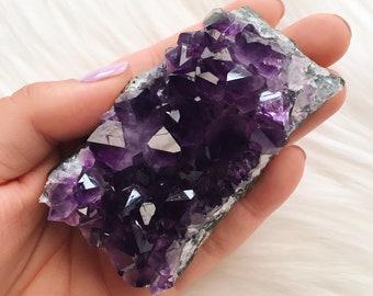 Natural Amethyst Cluster Home Decor Amethyst Crystal Cluster Amethyst Geode Third Eye Chakra Crystal Raw Amethyst Dark Purple Crystal