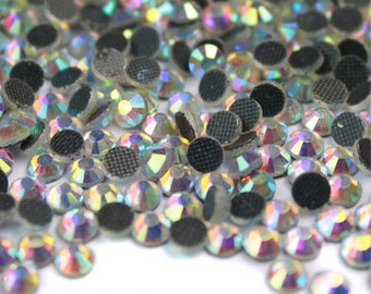 1440pcs Bling High Quality Wholesale Pack FlatBack Hotfix Crystals Glass  Rhinestones Gems Size ss6 ss8 ss10 ss12 ss16 ss20- Arore Boreale 09b2496968f6
