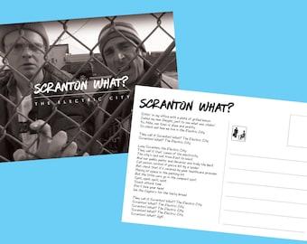 The Office Postcard Scranton Michael Scott Dwight Schrute, Scranton Rap, The Office, Lazy Scranton, Scranton What