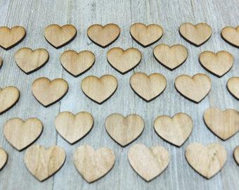 50 Laser cut hardboard hearts- crafting supplies
