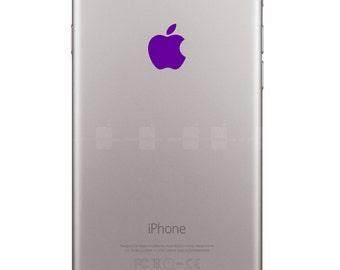 For iPhone 6,Plus,5s,5c Purple Apple Logo Overlay Vinyl Decal