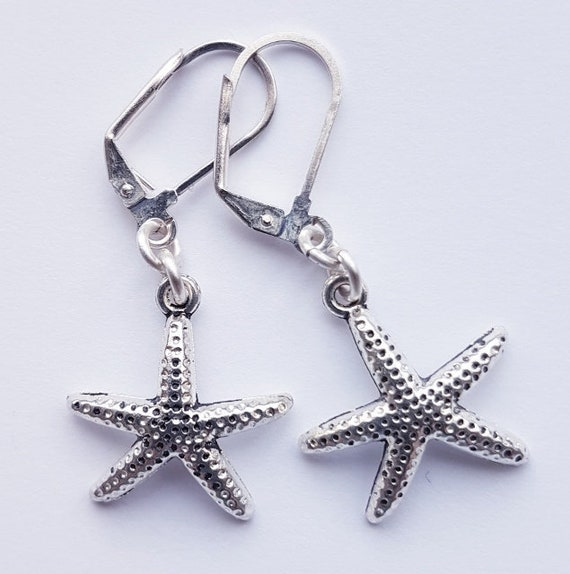 17e94a9ea Starfish Earrings Silver Jewelry inspired by nature Star | Etsy