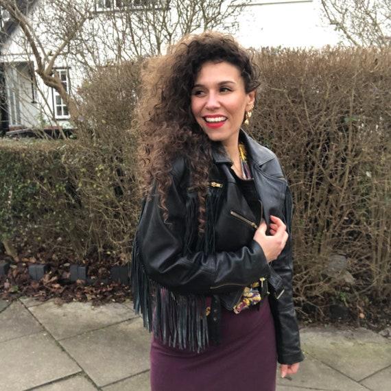 Fringed Leather Jacket