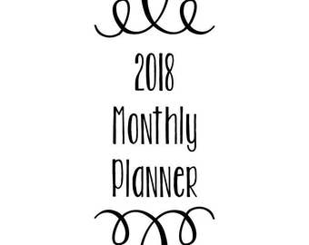 2018* Month At A Glance Planner