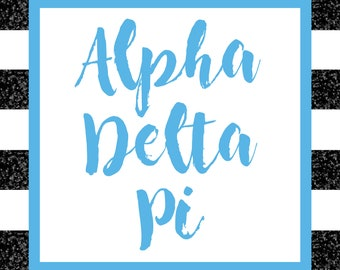 Alpha Delta Pi 2018-19 Academic Planner | 12 Month Weekly Calendar